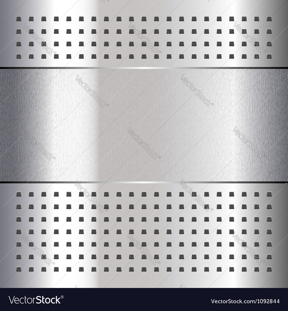 Scratched on chrome metal background 10eps vector | Price: 1 Credit (USD $1)