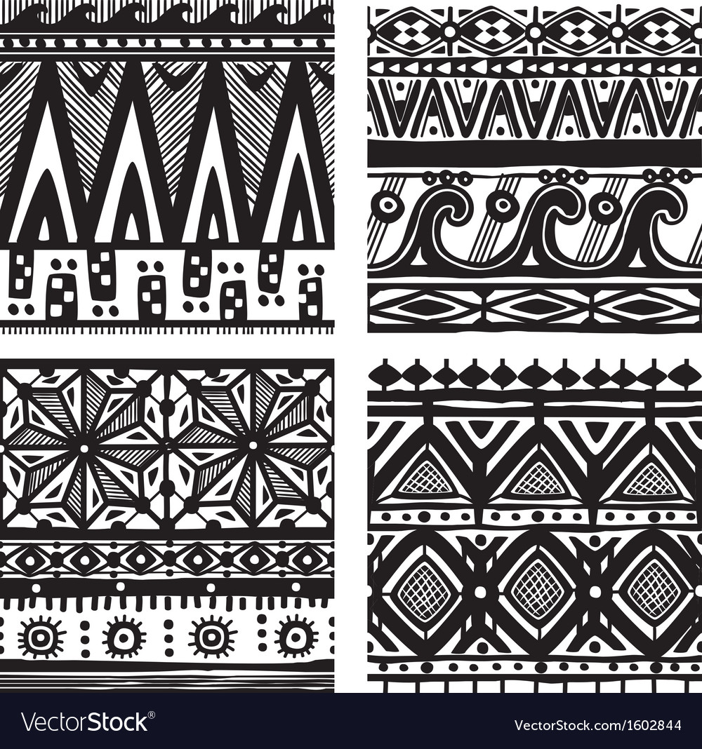 Seamless tribal texture vector | Price: 1 Credit (USD $1)