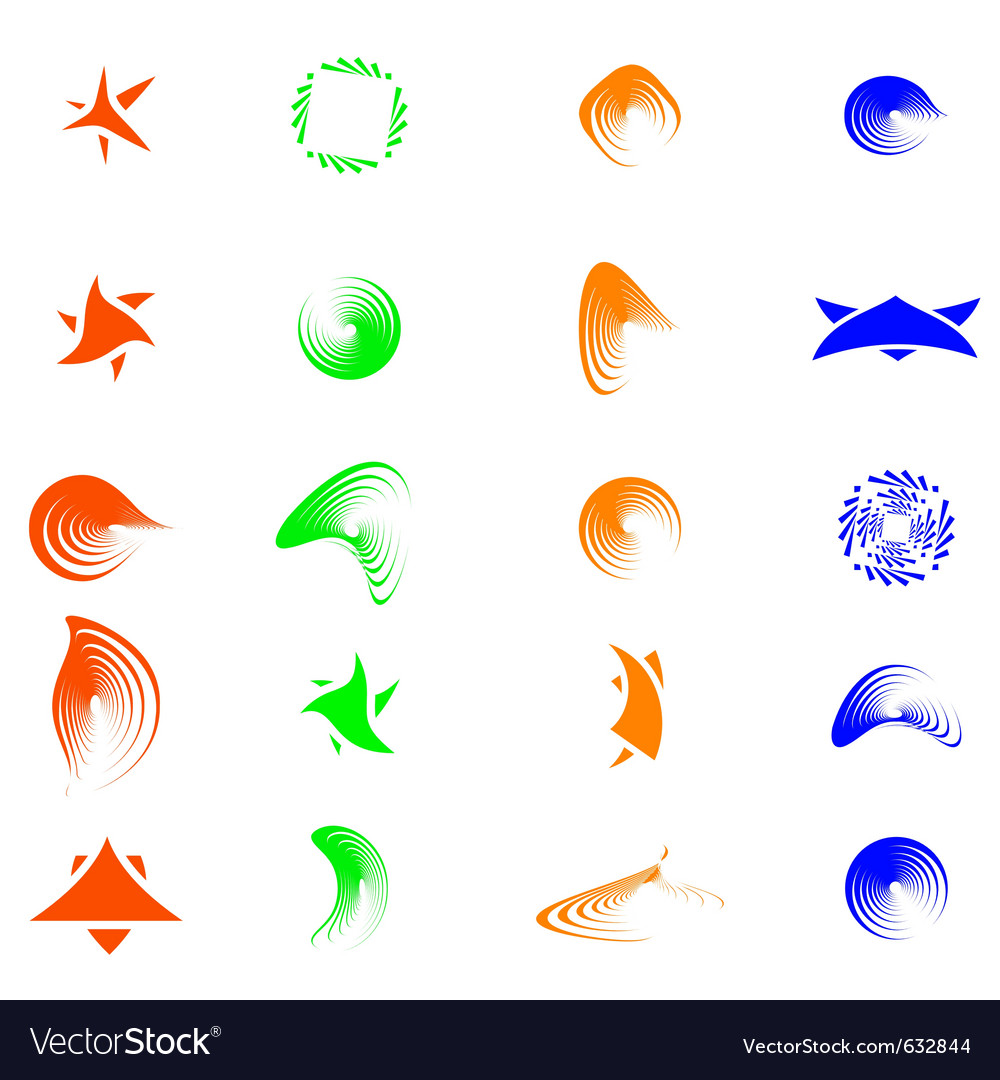 Set of color abstract symbols for design - also as vector | Price: 1 Credit (USD $1)