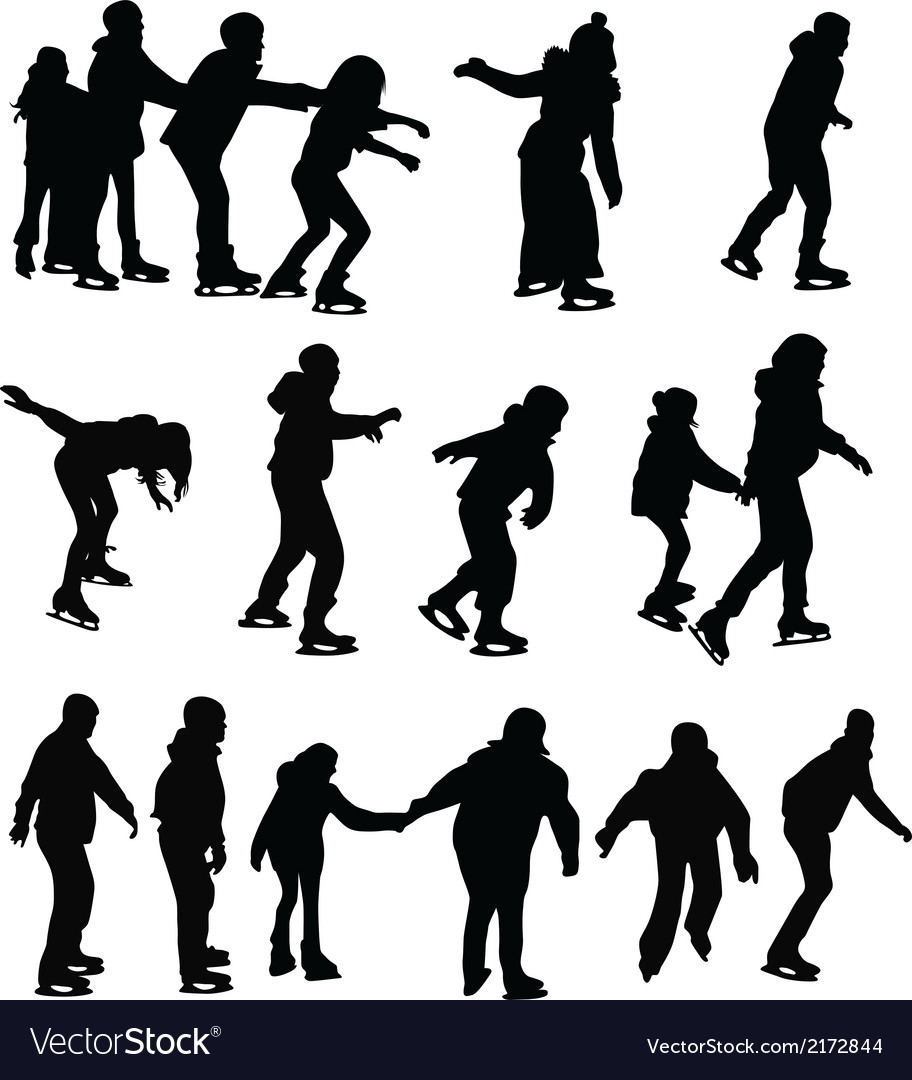 Skating silhouette vector | Price: 1 Credit (USD $1)