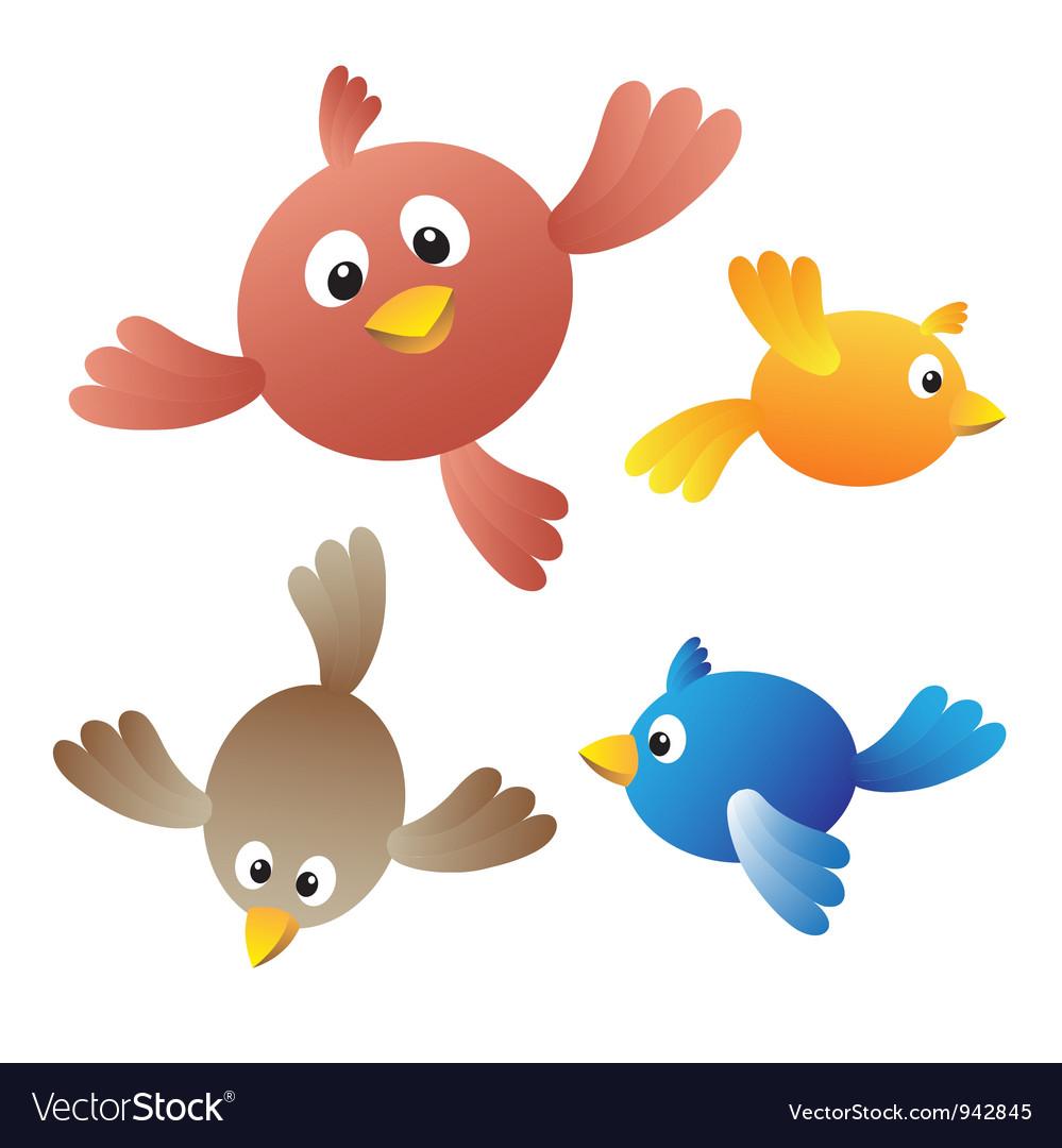 Amusing birdies vector | Price: 1 Credit (USD $1)