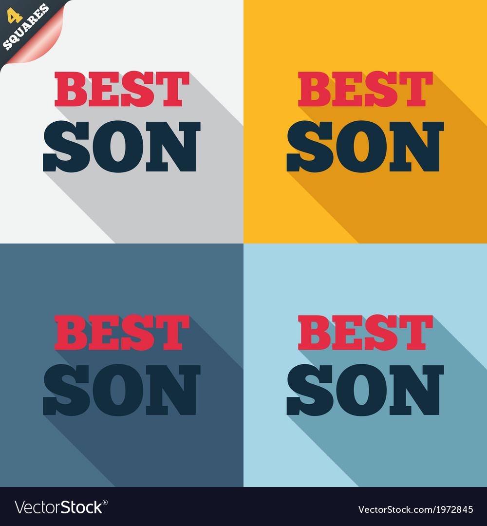 Best son sign icon award symbol vector | Price: 1 Credit (USD $1)