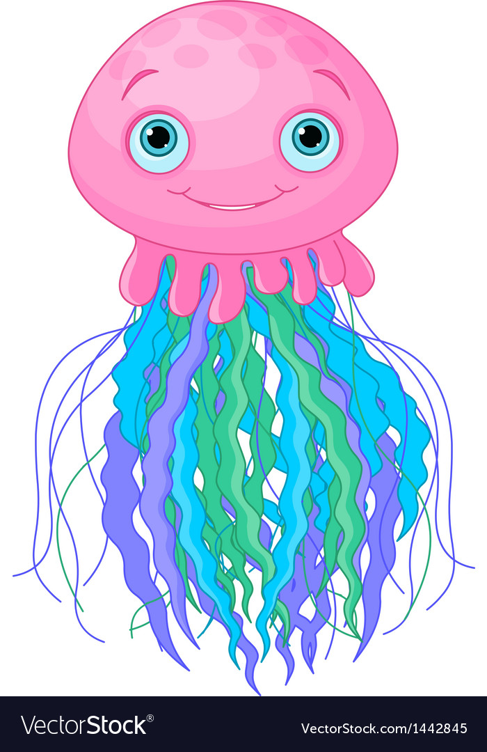 Cute jellyfish vector | Price: 1 Credit (USD $1)