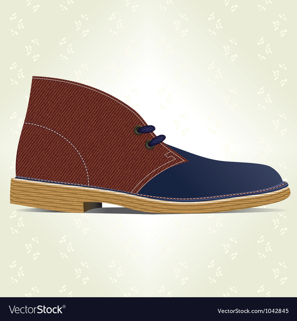 Desert boot vector | Price: 1 Credit (USD $1)