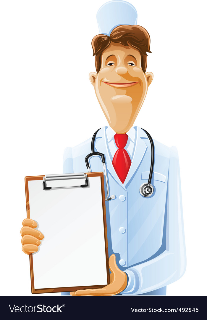 Doctor cartoon vector | Price: 3 Credit (USD $3)