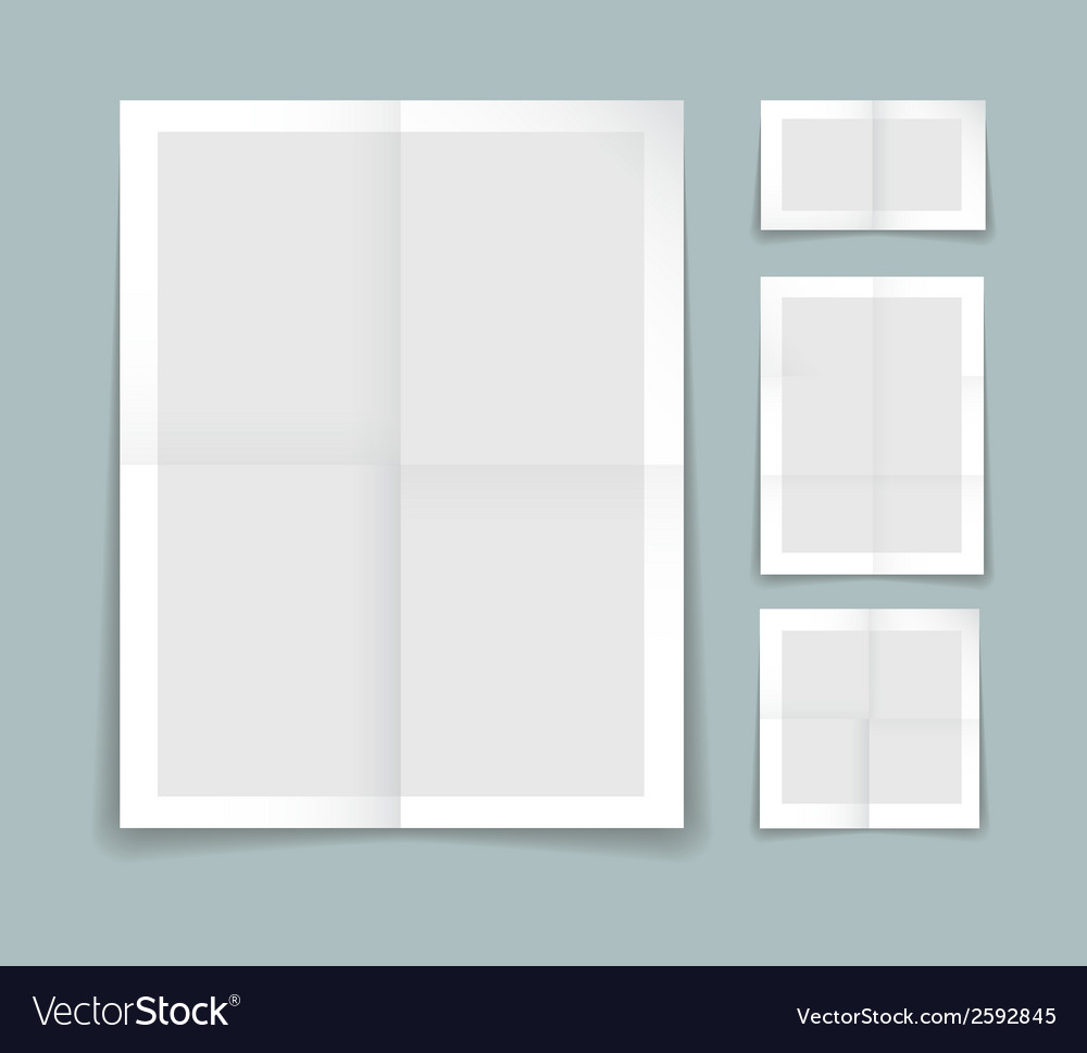 Folded paper template vector | Price: 1 Credit (USD $1)