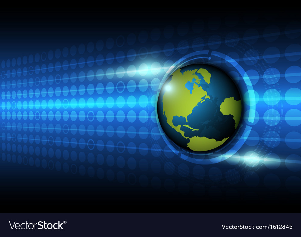 Global on technology background vector | Price: 1 Credit (USD $1)