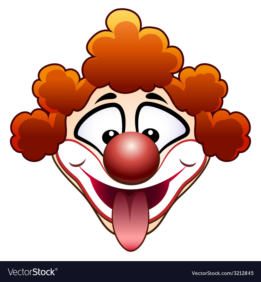 Joking circus clown head vector | Price: 1 Credit (USD $1)