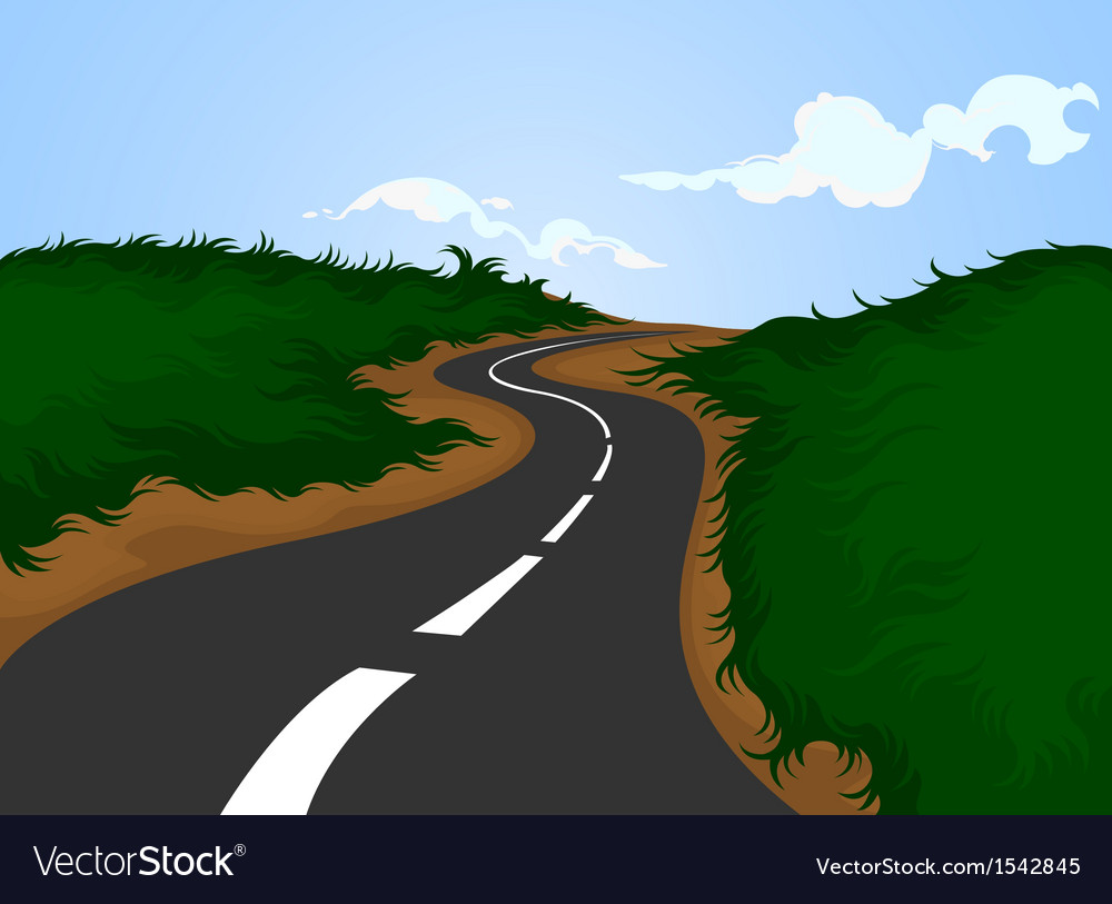 Road and nature background vector | Price: 1 Credit (USD $1)