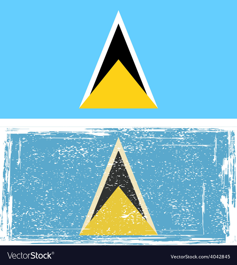 Saint lucia grunge flag vector | Price: 1 Credit (USD $1)