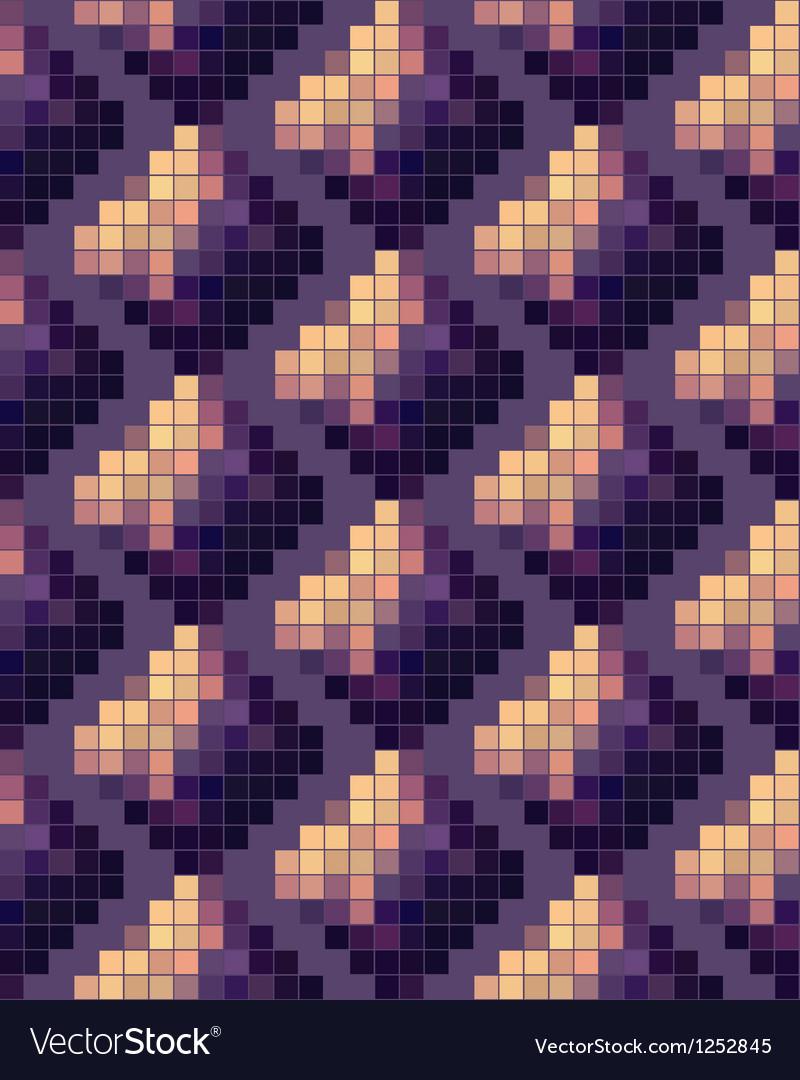 Seamless mosaic pattern vector | Price: 1 Credit (USD $1)
