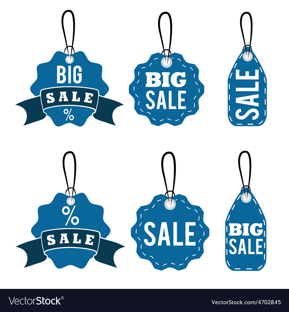 Set of sale tags design template vector | Price: 1 Credit (USD $1)