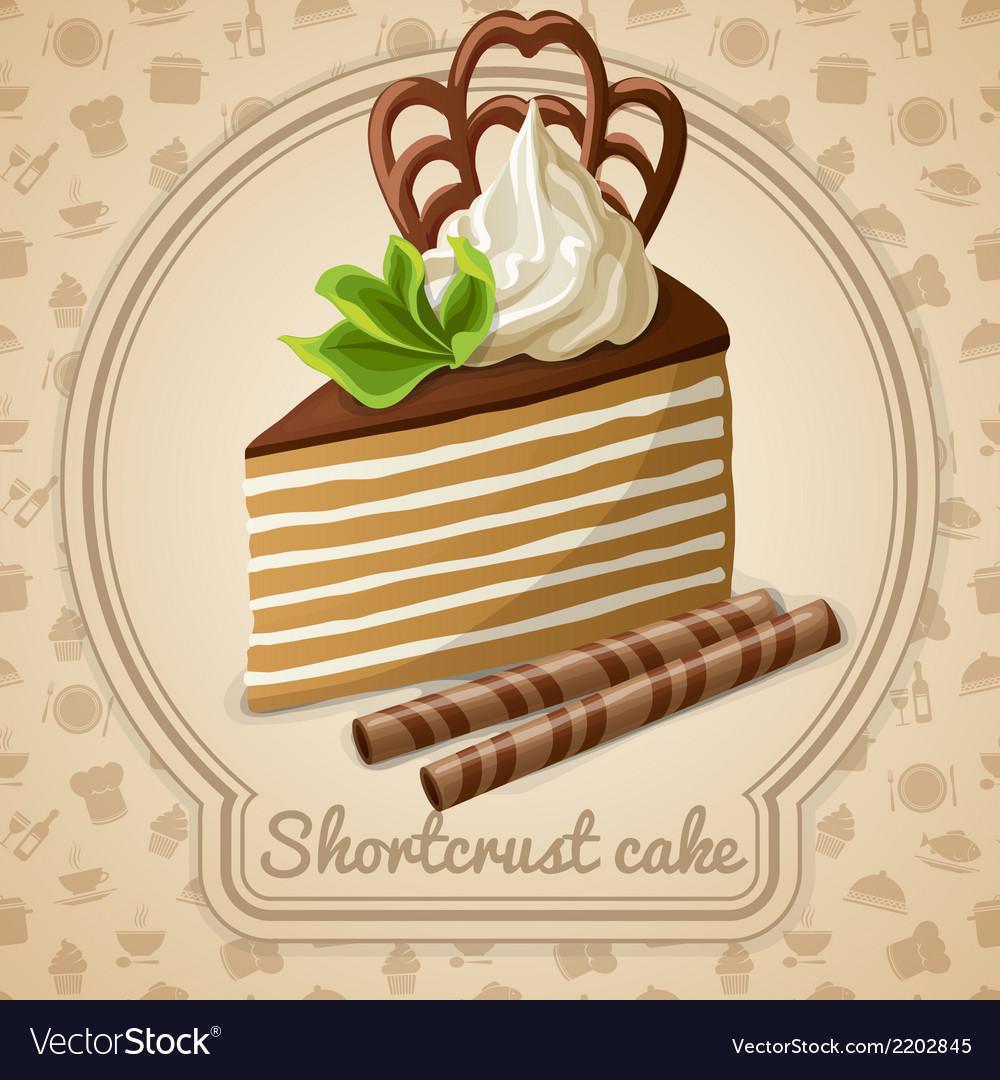 Shortcrust cake label vector | Price: 1 Credit (USD $1)