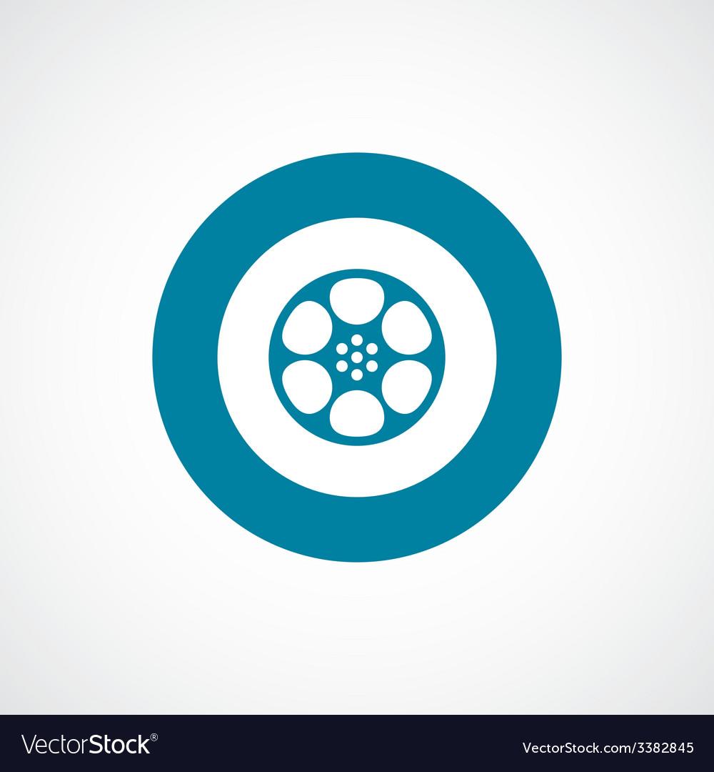 Video film bold blue border circle icon vector | Price: 1 Credit (USD $1)