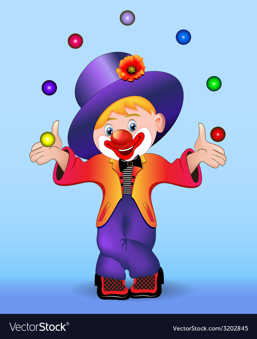 Young cheerful clown vector | Price: 3 Credit (USD $3)