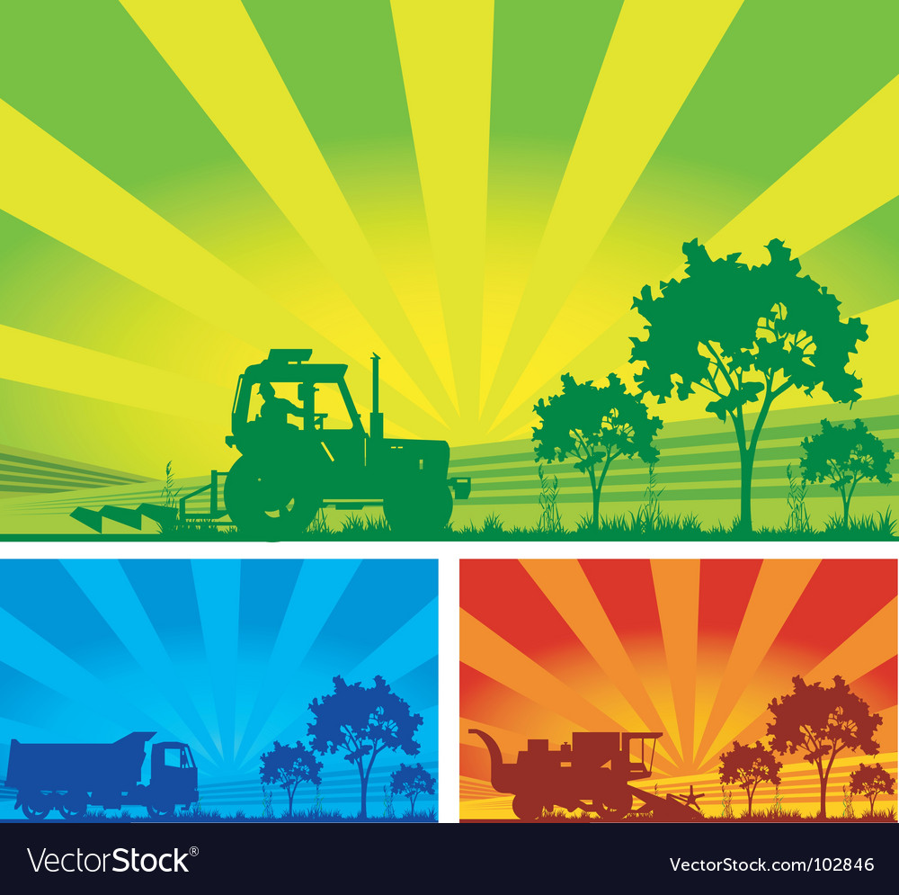 Agricultural machinery vector | Price: 1 Credit (USD $1)