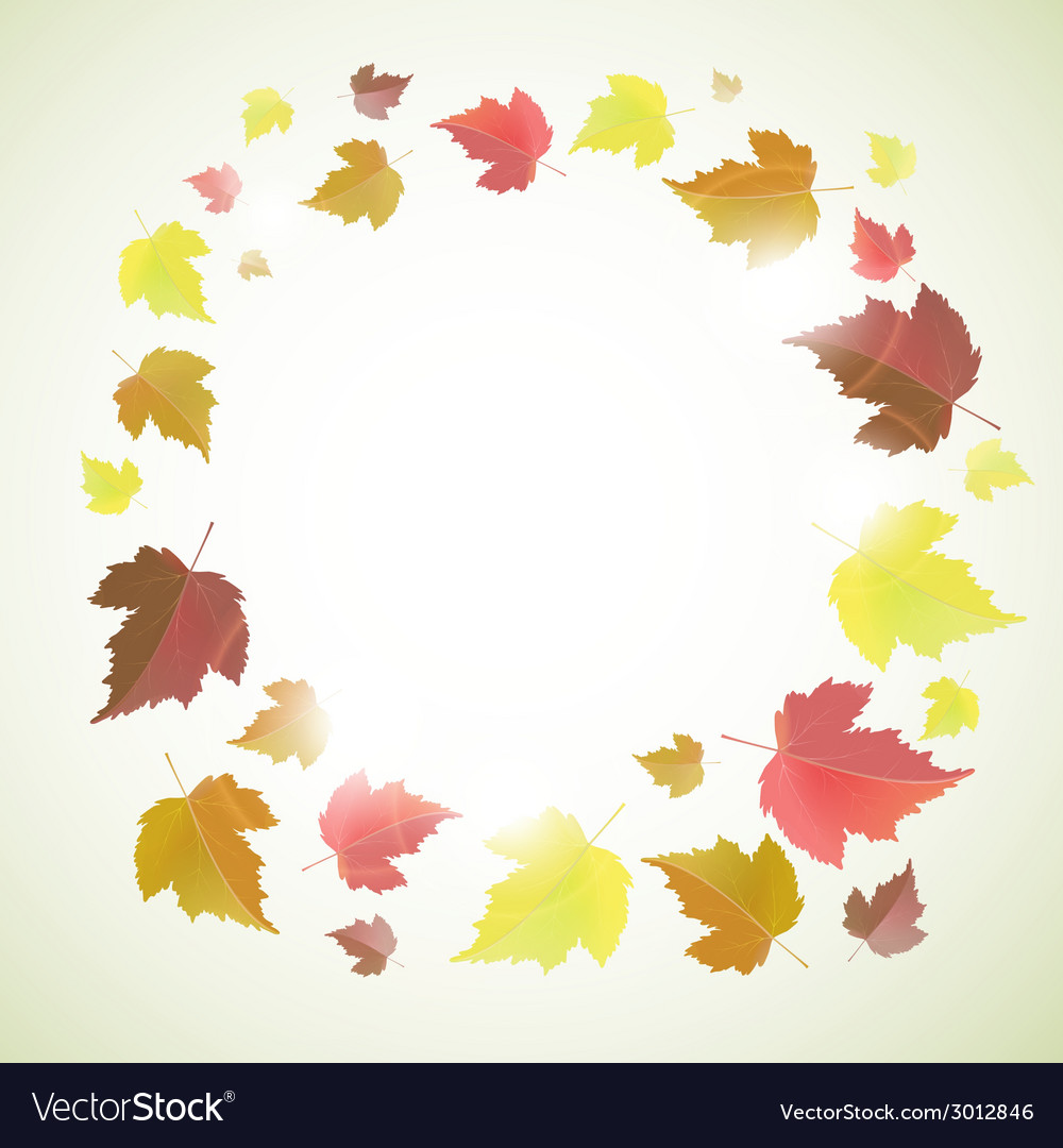 Autumn background with leaves vector | Price: 1 Credit (USD $1)