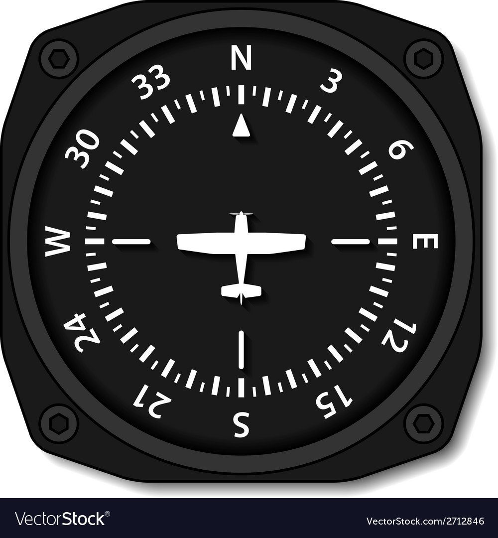 Aviation aircraft compass turns vector | Price: 1 Credit (USD $1)