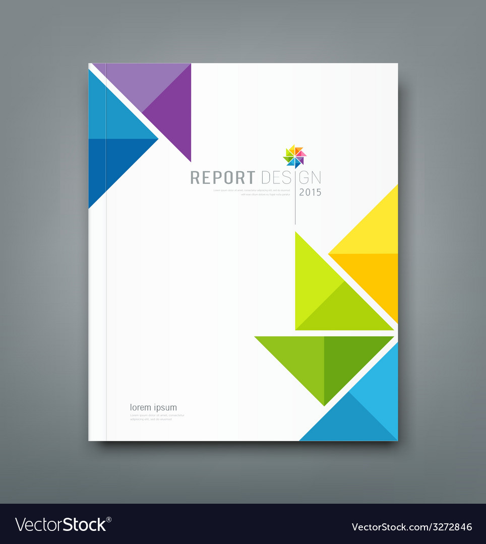 Cover annual report colorful windmill paper vector | Price: 1 Credit (USD $1)