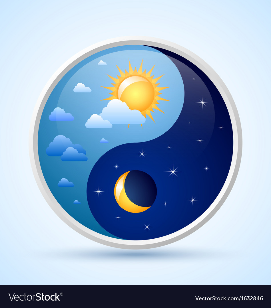 Day and night symbol vector | Price: 1 Credit (USD $1)