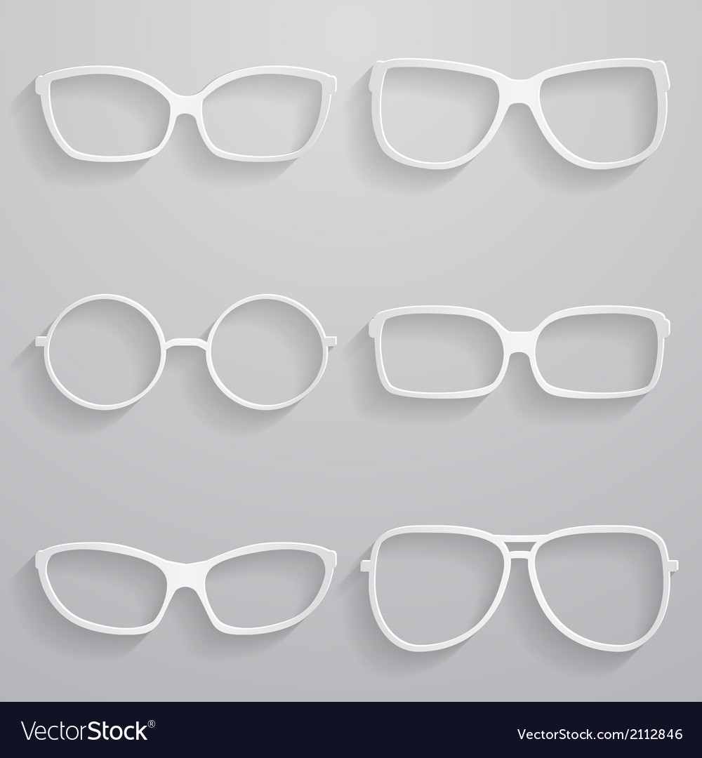 Set of paper sunglasses vector | Price: 1 Credit (USD $1)