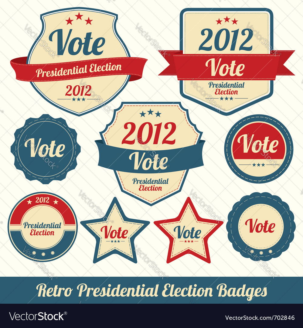 Vote 2012 lables vector | Price: 1 Credit (USD $1)