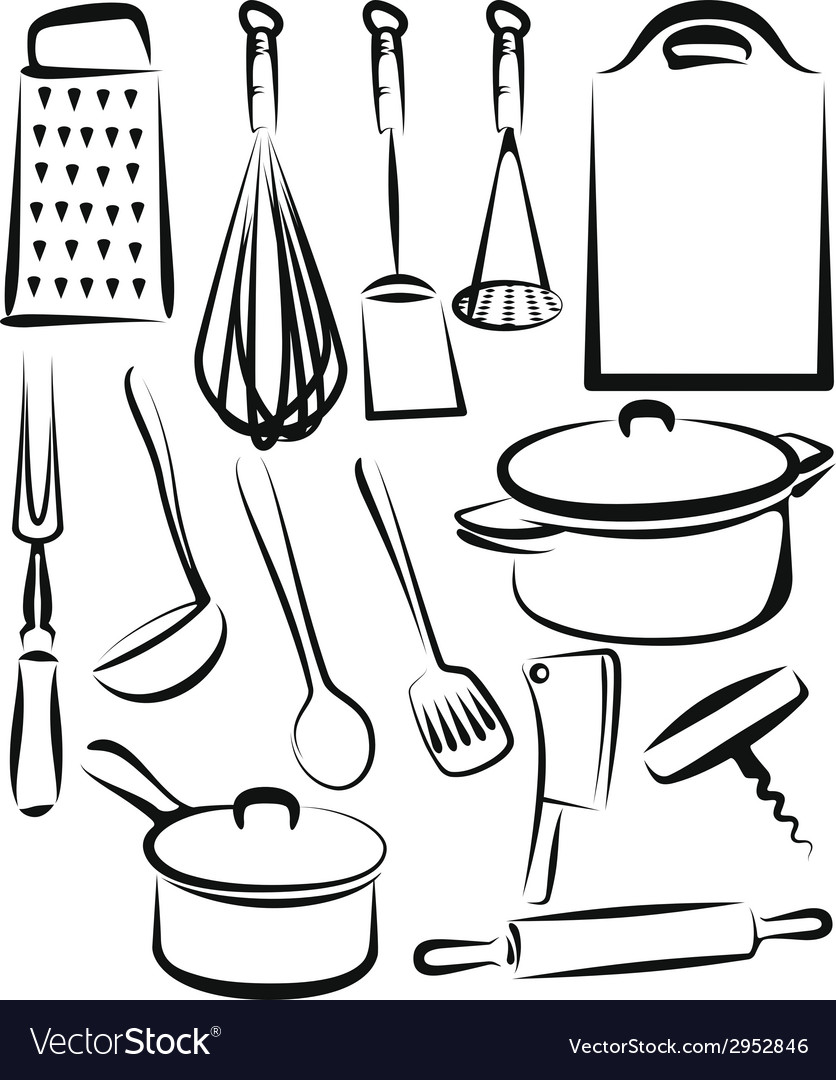 With a set of kitchen utensil vector | Price: 1 Credit (USD $1)