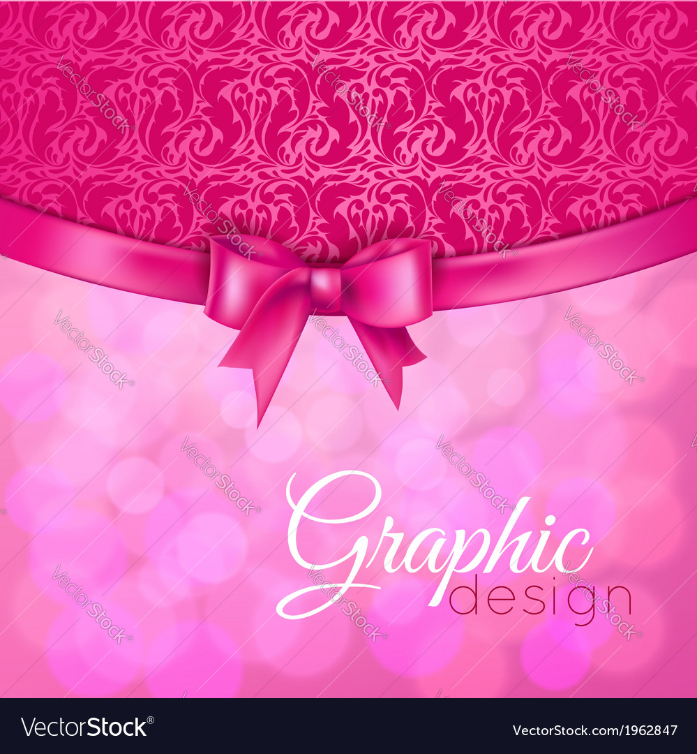Background with bow vector | Price: 1 Credit (USD $1)