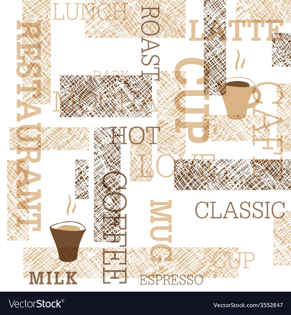 Coffee themed seamless background vector | Price: 1 Credit (USD $1)