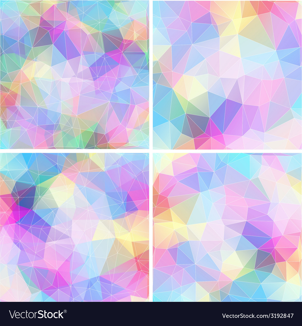 Colorful mosaic banner set vector | Price: 1 Credit (USD $1)