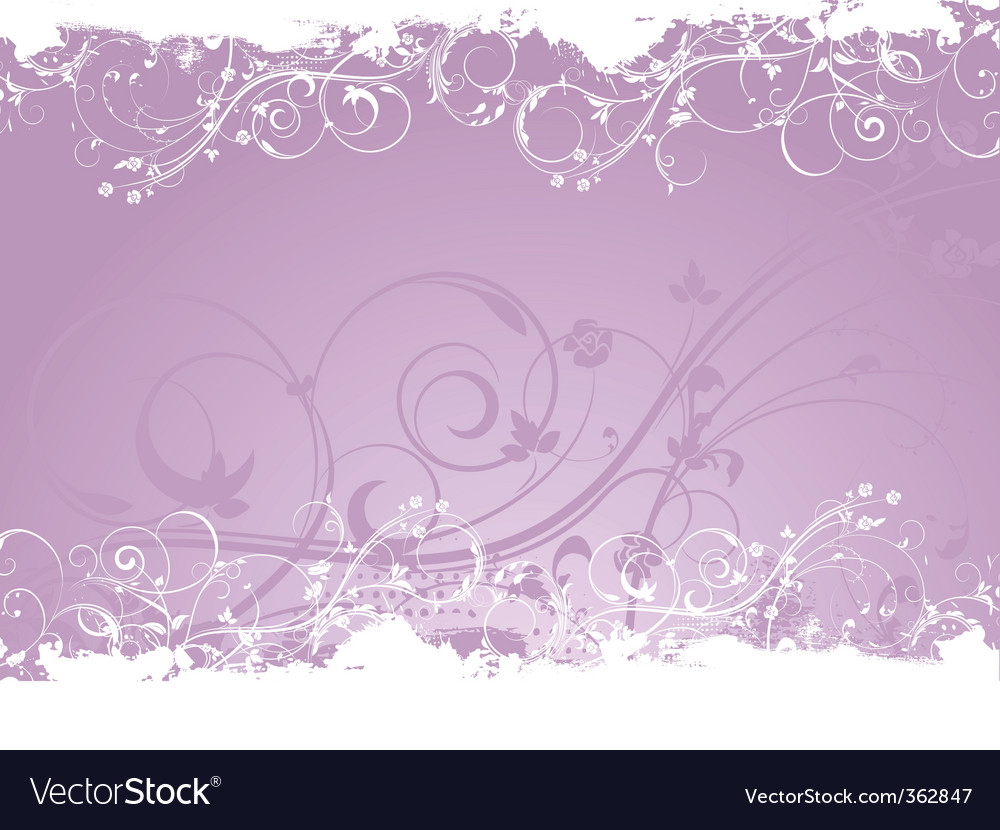 Floral valentines vector