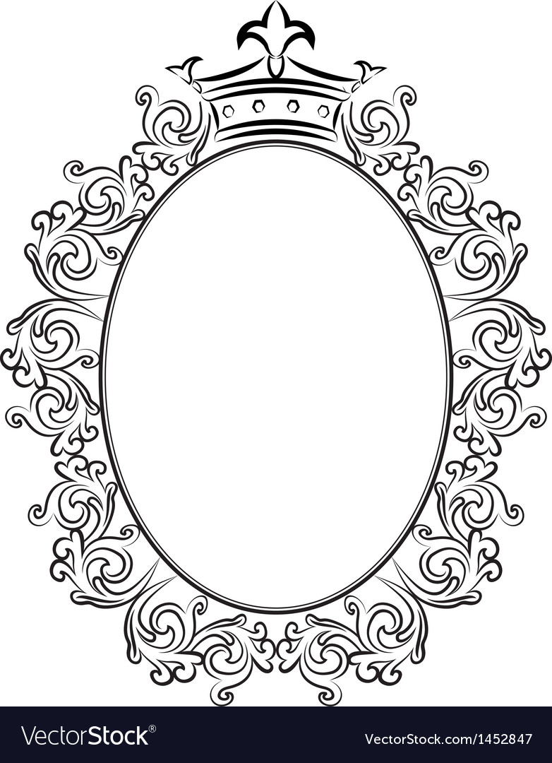 Frame with crowns vector | Price: 1 Credit (USD $1)