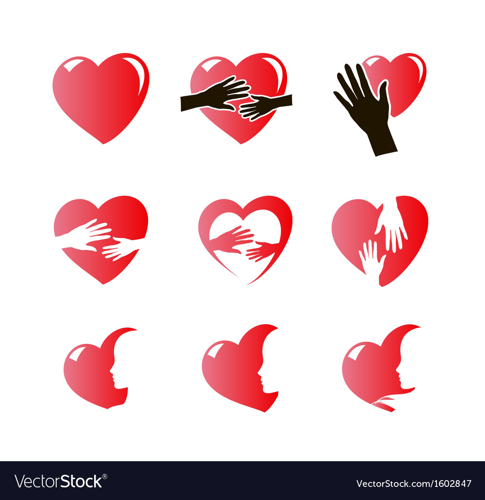 Hearts icon set vector | Price: 1 Credit (USD $1)