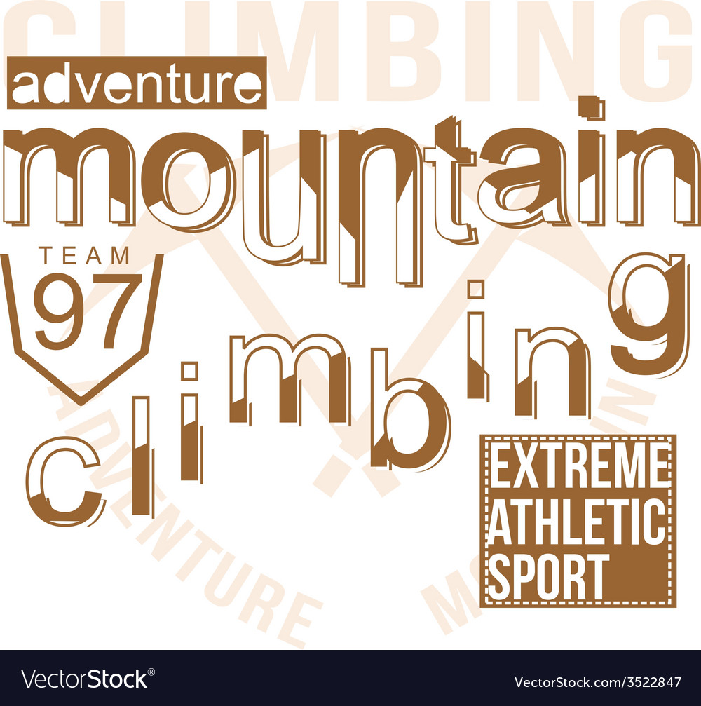 Mountain climbing vector | Price: 1 Credit (USD $1)