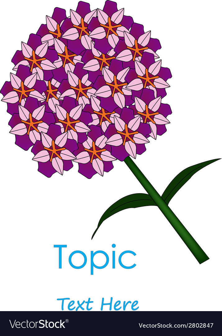 The of purplr cycle flower vector | Price: 1 Credit (USD $1)