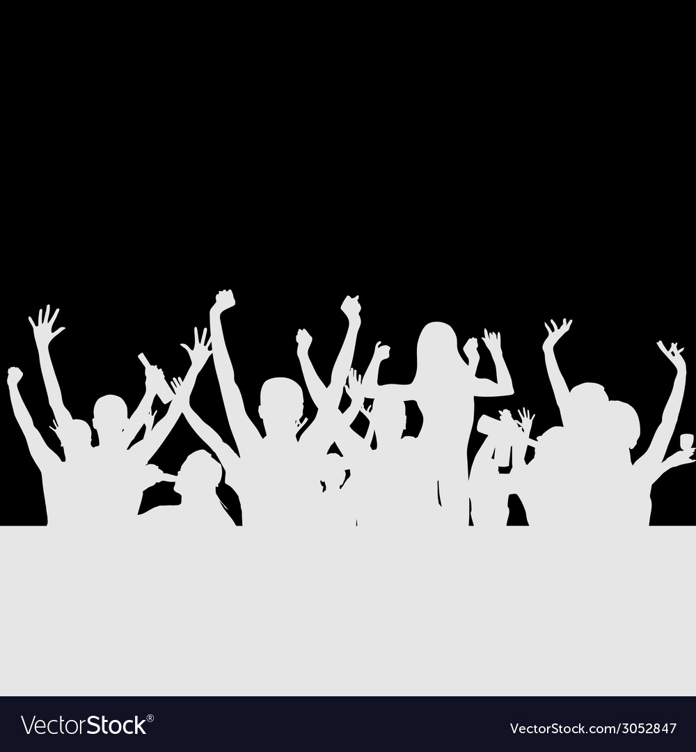 People party silhouette vector | Price: 1 Credit (USD $1)