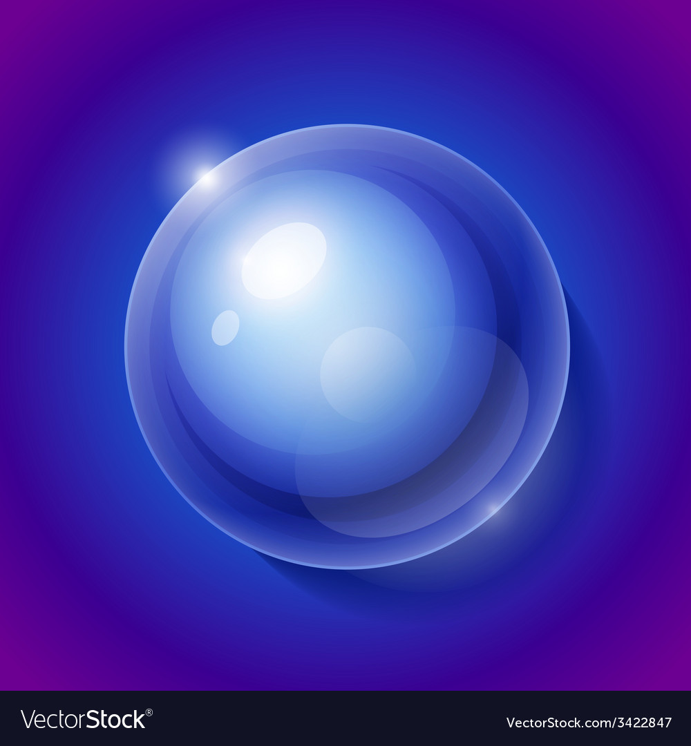 Realistic shiny transparent water drop sphere on vector | Price: 1 Credit (USD $1)