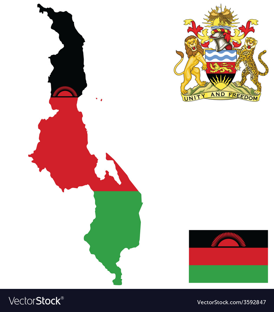 Republic of malawi flag vector | Price: 1 Credit (USD $1)