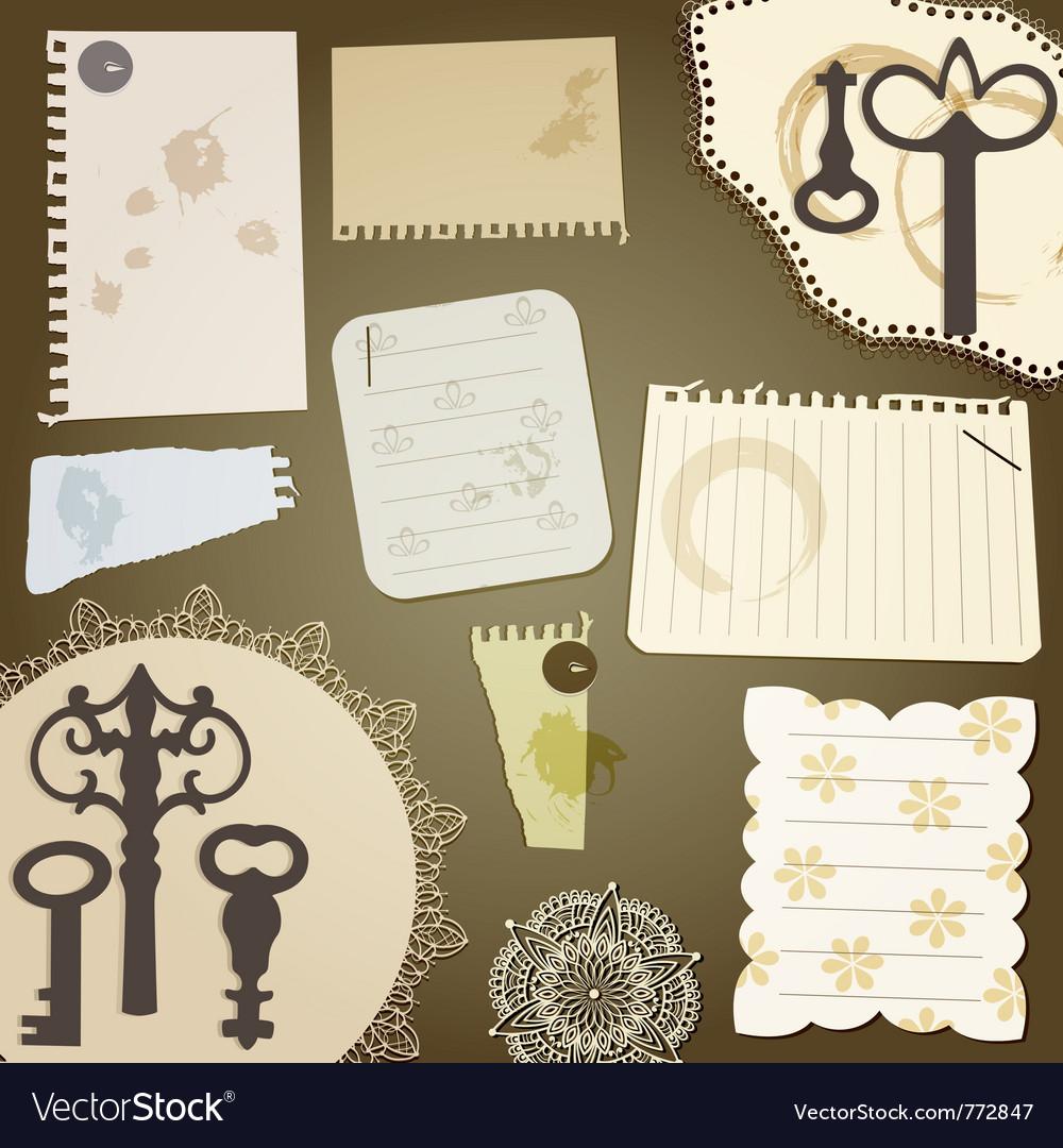 Scrapbook design elements vector | Price: 1 Credit (USD $1)