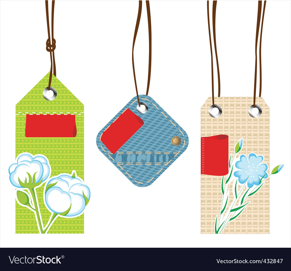 Textile labels vector | Price: 1 Credit (USD $1)