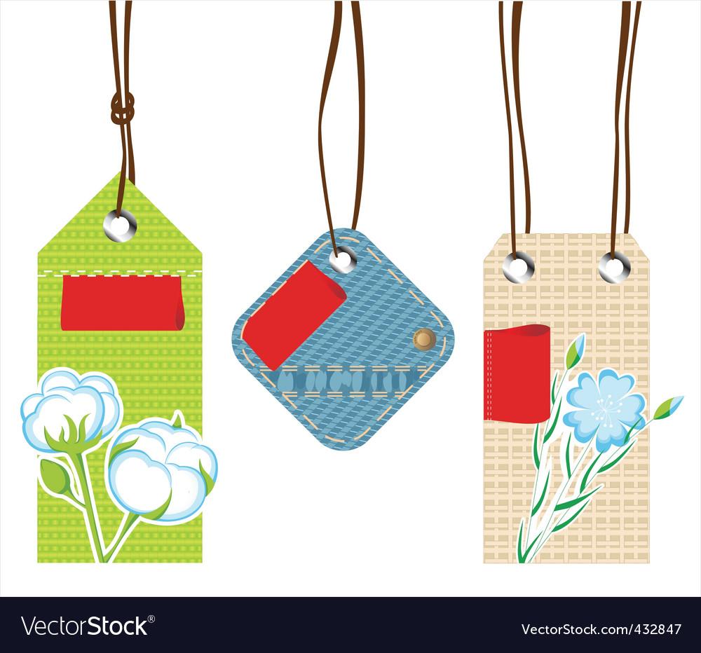 Textile labels vector | Price: 1 Credit (USD $1)