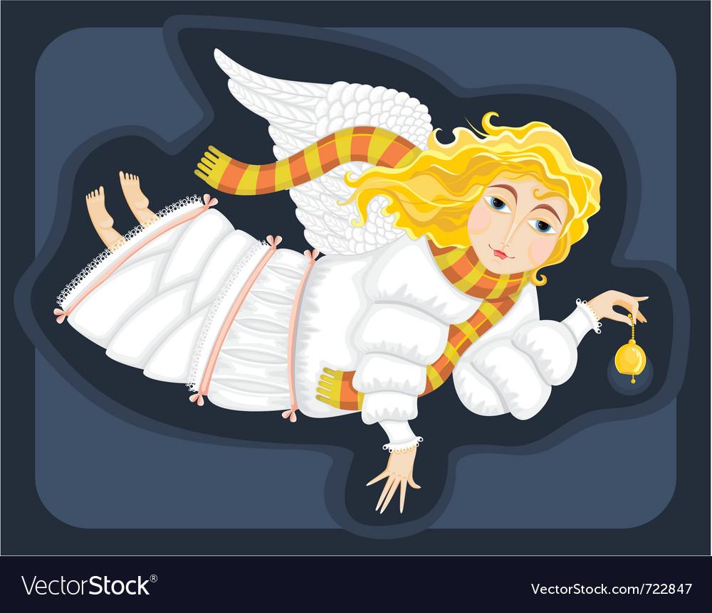 Winter angel vector | Price: 3 Credit (USD $3)