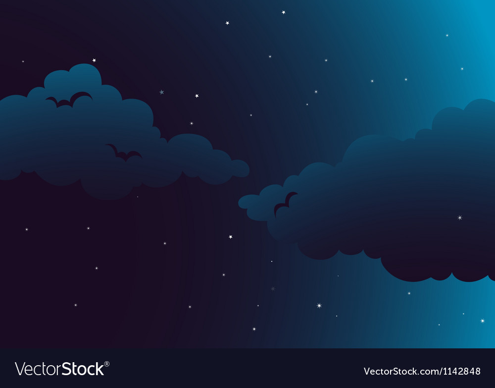 A peaceful night vector | Price: 1 Credit (USD $1)
