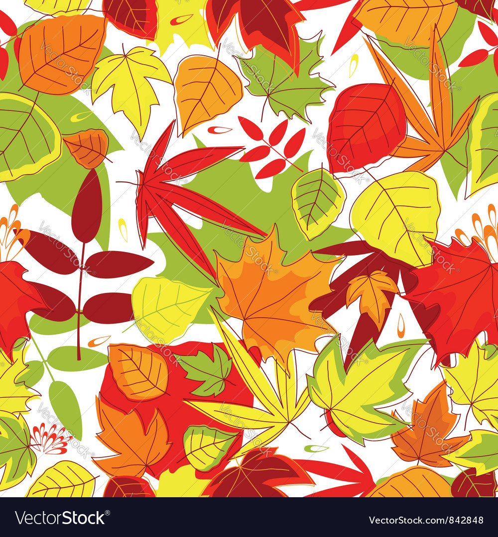 Autumnal seamless pattern vector | Price: 1 Credit (USD $1)