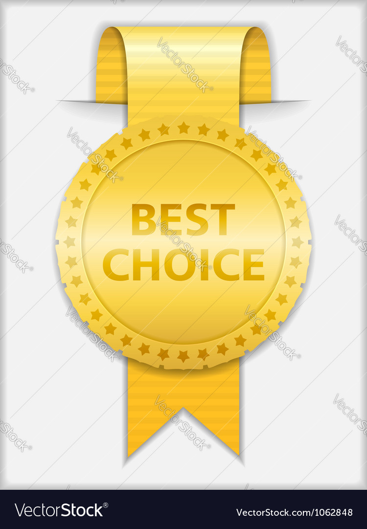 Best choice medal vector | Price: 1 Credit (USD $1)