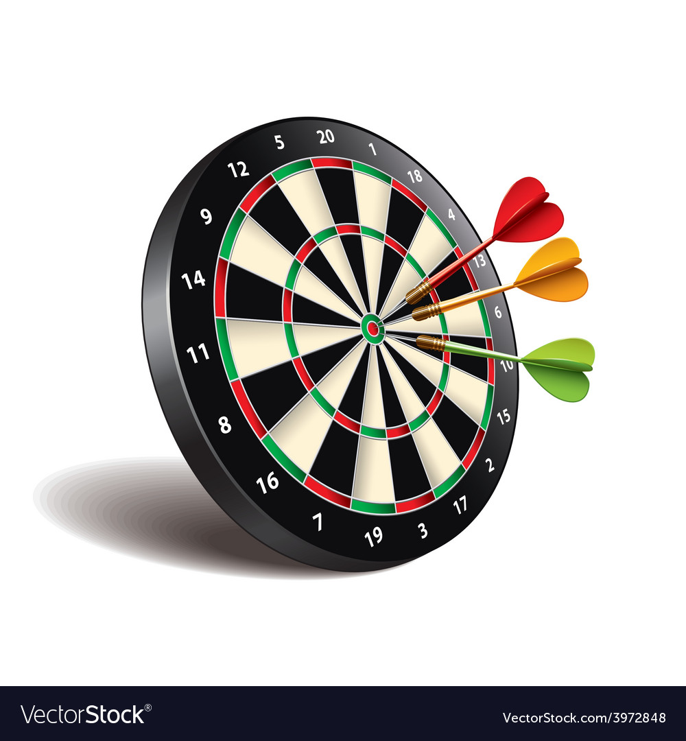 Darts target isolated vector | Price: 3 Credit (USD $3)