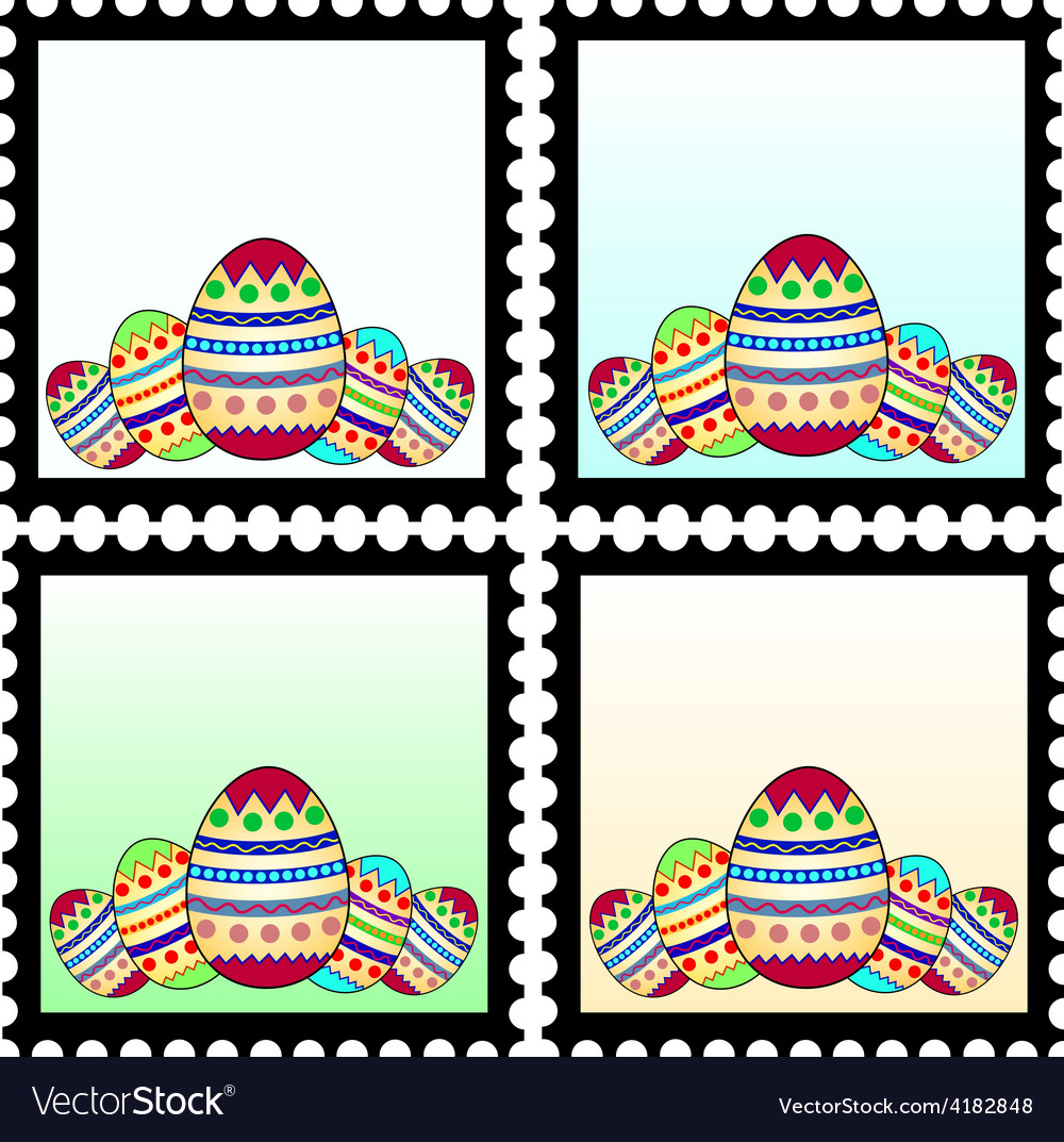 Easter stamps vector   Price: 1 Credit (USD $1)