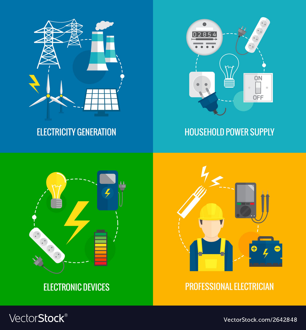 Electricity energy concept vector | Price: 1 Credit (USD $1)