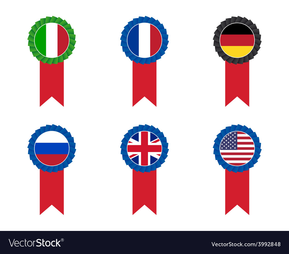 Flag cockades vector | Price: 1 Credit (USD $1)