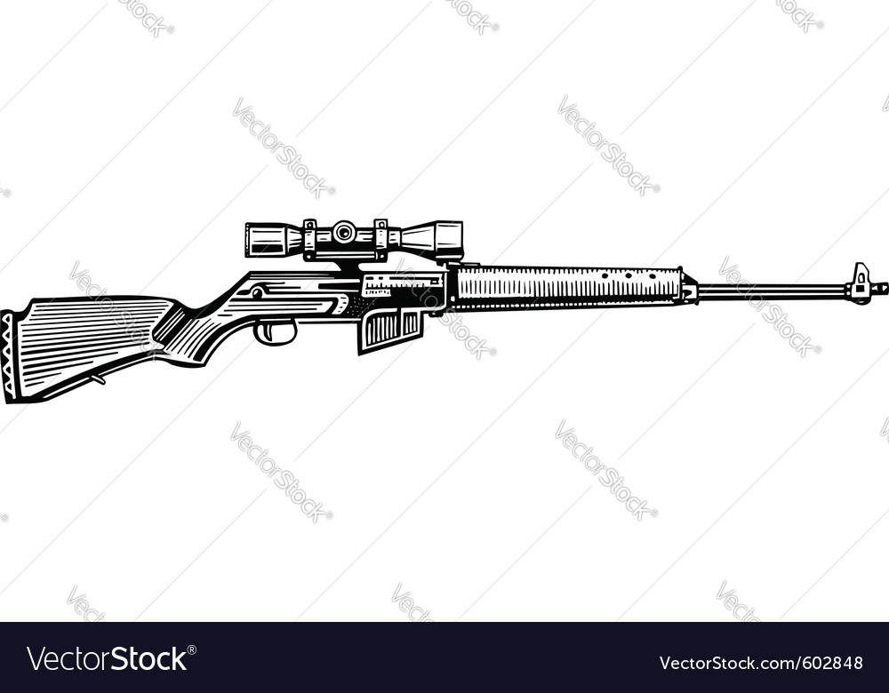 Hunting rifle vector | Price: 1 Credit (USD $1)